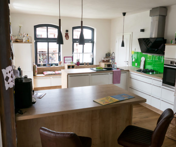Theke-Block-Küche